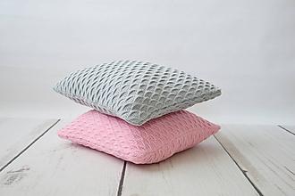 Úžitkový textil - pletené vankúše - 10448938_