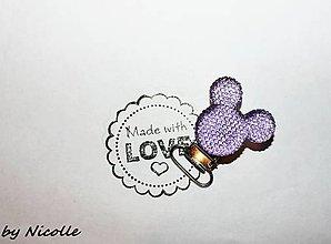 Komponenty - Klip Mickey - fialový - 10448875_