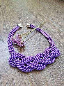 Náhrdelníky - Nekonečný náhrdelník  (Fialová) - 10450112_