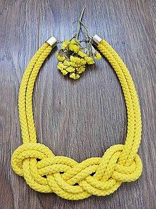 Náhrdelníky - Nekonečný náhrdelník  (Žltá) - 10450121_
