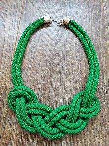 Náhrdelníky - Nekonečný náhrdelník  (Zelená) - 10450763_