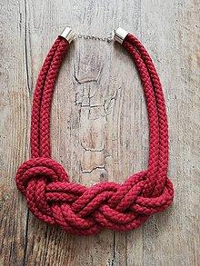 Náhrdelníky - Nekonečný náhrdelník  (Bordová) - 10450769_