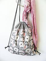 Batohy - batoh ruže, pásiky, čipka - 10449987_