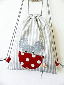 Detské tašky - Batoh myška v hrnčeku 6-12r. - 10449909_