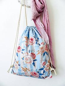 Batohy - batoh ruže, pásy, bodky - 10449955_