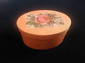 Krabičky - Mini šperkovnica s ružičkou - 10450562_