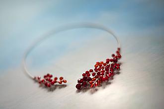 Náhrdelníky - Náhrdelník červený - 10450040_