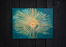 Abstraktný obraz - Aztec Sun