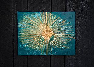 Obrazy - Abstraktný obraz - Aztec Sun - 10451753_