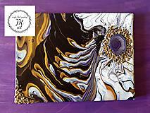 Obrazy - Krása fialového achátu - 10449966_