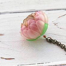Náhrdelníky - Listopadka Růženka - náhrdelník z PET - 10449036_