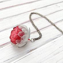 Náhrdelníky - Listopadka červánky - náhrdelník z PET - 10449047_
