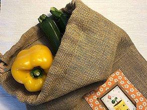 Úžitkový textil - Jutové vrecko - Kvetináč žltý - 10451368_