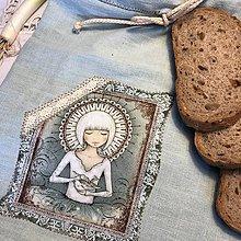 Úžitkový textil - Ľanové vrecko na potraviny - BETKA II - 10451474_