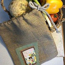 Úžitkový textil - Jutové vrecko - KAROLÍNKA II - 10451563_