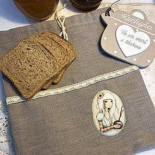 Úžitkový textil - Ľanové vrecko na potraviny - OLÍVIA IV - 10451602_