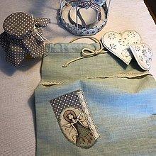 Úžitkový textil - Ľanové vrecko na potraviny - ZOJA I - 10451783_