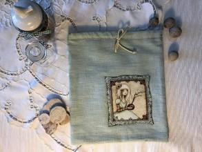 Úžitkový textil - Ľanové vrecko na potraviny - OLÍVIA I - 10451854_