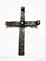 Dekorácie - kovaný krížik  - 10451298_