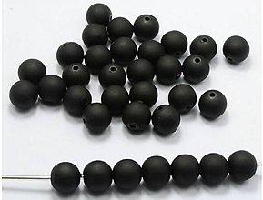 Korálky - Plastové korálky 6mm MATNÉ (balíček 50ks) - 10451406_