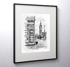 Obrazy - Cikajúci londýnčan - 10451152_