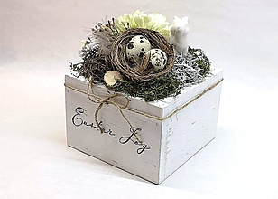 Dekorácie - Veľkonočná dekorácia s hniezdom - 10449260_