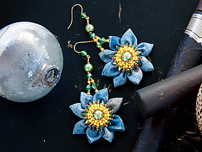 Náušnice - Náušnice s kvetmi - 10451974_