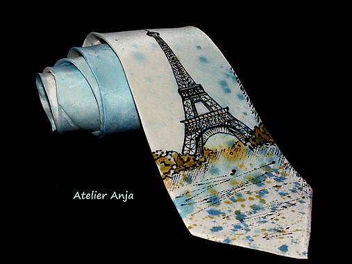 Hodvábna kravata - Eifelovka