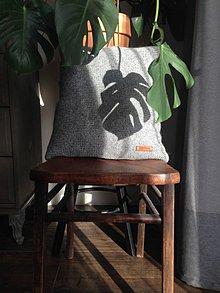 Úžitkový textil - Pletený vankúš - 10450470_