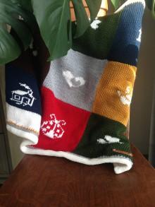 Úžitkový textil - deka do kociara akebo postielky - 10450553_