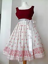 Šaty - Folklorne retro šaty - 10450296_