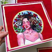 Obrazy - Červená kráľovná (art print) - 10450075_