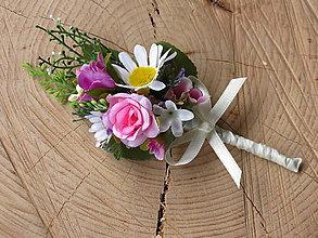 Pierka - Svadobné pierko lúčne kvety - 10456264_