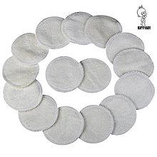 Úžitkový textil - AKCIA - 15 párov ( = 30ks ) Látkové odličovacie tampóny - BAMBUSOVÉ - 10456369_