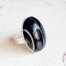 Prstene - Black Agate Elegant Ring / Prsteň s čiernym achátom /1522 - 10453168_