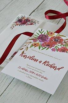 Papiernictvo - Svadobné oznámenie Kytica z lásky - 10453409_