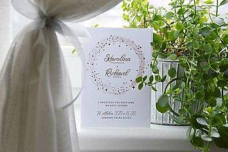 Papiernictvo - Svadobné oznámenie Hviezdna hmla - 10453421_