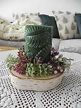 Dekorácie - Jarný svietnik - brezovníček, machovníček:-) - 10455220_