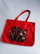 Nákupné tašky - Maky - nákupná taška červená - 10454054_