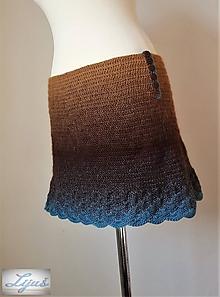 Sukne - Bedrová sukňa Poklady Zeme -100 % merino vlna - 10455213_