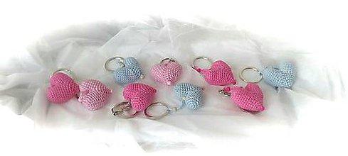 Kľúčenky - Srdiečka ♥ - 10452467_