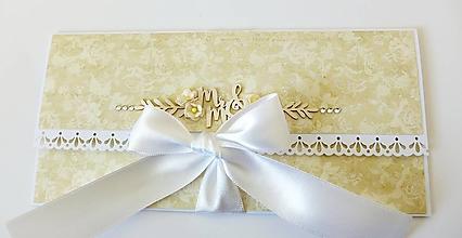 Papiernictvo - svadobná darčeková obálka na peniaze - 10452389_