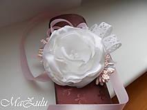 Náramky - Vintage svadobný náramok XI. - 10453314_