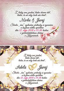 Grafika - Svadobné oznámenia - 10456332_