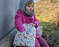 Detské tašky - Detský ruksak africké zvieratká - 10455004_