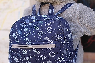 Detské tašky - Detský ruksak planéty vesmír rakety - 10454971_