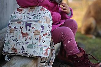 Detské tašky - Detský ruksak africké zvieratká - 10455001_