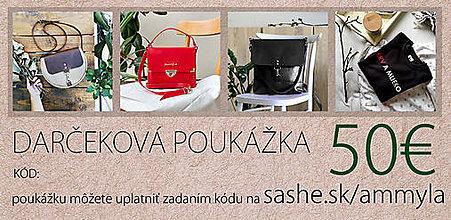 Darčekové poukážky - Darčeková poukážka 50€ - 10454351_