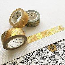 Papier - luxusná ozdobná papierová páska Tisíc a jedna noc I (zlatá II) - 10453778_