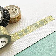 Papier - luxusná ozdobná papierová páska Tisíc a jedna noc I (zelená) - 10453782_